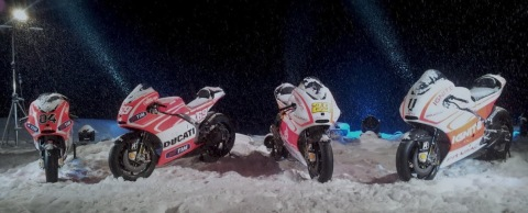 Ducati Wrooom motos nieve